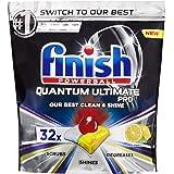 Finish Powerball Quantum Ultimate Pro Dishwasher Tablets, 32 Pack, Lemon Sparkle