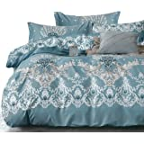 Essina Cotton King Quilt Cover Duvet Cover Doona Cover Set 3pc Valencia Collection 620 Thread Count, Pillow Sham, Sorrento