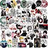Potota Tokyo Ghoul Stickers|50 Pcak | Vinyl Waterproof Stickers for Laptop,Bumper,Water Bottles,Computer,Phone,Hard hat,Car S