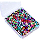 Whale Bulk Loose Sequins Cup Sequin Iridescent Spangles Flat beads with Storage Box for Crafts, Sewing, 80 Grammes, 6 mm