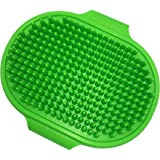 Premium Pet Bath Brush Grooming Comb, Pet Shampoo Soothing Massage Rubber Comb with Adjustable Ring Handle for Long & Short H