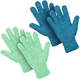 2 Pairs Microfiber Auto Dusting Cleaning Gloves Washable Cleaning Mittens for Kitchen House Cleaning Cars Trucks Mirrors Lamp