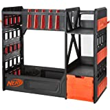 Nerf Elite Blaster Rack - Storage for up to Six Nerf Blasters, Including Shelving and Drawers for Nerf Accessories, Orange an