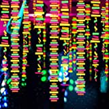 30ft Strip Glow Streamers Neon Paper Garland Black light Party Streamer Decorations Fluorescent Strip Hanging Ornaments Glow