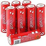 enevolt(エネボルト) 単3形充電池 2150mAh ニッケル水素充電池 単3 充電池 使用開始記入欄 リニューア…