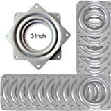 """16Pcs 3"""" Lazy Susan Turntable Bearings, Zinc-Plated Silver Lazy Susan Swivel Plate, Rotating Bearing Plate with 150 Pounds Ca"""