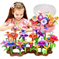 Fomass Toys for 3-6 Year Old Girls, Flower Garden Building Toy STEM Pretend Playset for Toddlers Kids Stacking Game Education