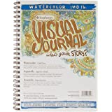 "Strathmore 460-59 400 Series Visual Watercolor Journal, 140 LB 9""x12"" Cold Press, Wire Bound, 22 Sheets White"