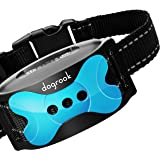 DogRook Rechargeable Dog Bark Collar - Humane, No Shock Barking Collar - w/2 Vibration & Beep - S, M, L Dogs Breeds Training
