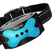 Dogrook デュアルモーター無駄吠えしつけ首輪-充電式で繰り返し使用可能、犬に優しい、優しい刺激の無駄吠え防止首輪…