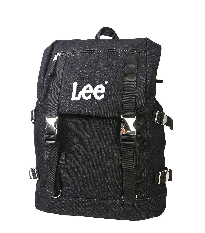 dd0d3227702b リー LEE リュック バックアパック デイパック バッグ カバン 鞄 デニム ネイビー ブラック メタルバックル 通勤 通学 レディース メンズ  lee-0420906