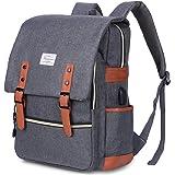 Modoker Vintage Laptop Backpack for Women Men,School College Backpack with USB Charging Port Fashion Backpack Fits 15 inch No