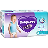 BABY LOVE Cosifit BabyLove Cosifit Nappies, Size 4 (9-14kg), 102 Nappies (3X 34 Pack), Toddler, 3 Count