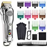 Hatteker Mens Hair Clipper Hair Trimmer Cord Cordless Professional Hair Cutting Kit Beard Trimmer Rechargeable IPX7 Waterproo