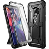 Galaxy S9 Case, YOUMAKER Heavy Duty Protection Kickstand with Built-in Screen Protector Shockproof Case Cover for Samsung Gal