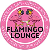 Venicor Flamingo Lounge Cocktail Bar Sign - Available Early June