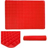 Witkey 1 Pcs Healthy Non-stick Cooking Silicone Baking Mat Heat Resistant Cookie Sheet - Red