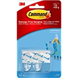 Command 17092CLR Small Hooks, Clear, 2-Hook, 4-Strip