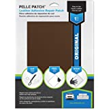 Pelle Patch - Leather & Vinyl Adhesive Repair Patch - 25 Colors Available - Original 8x11 - Medium Brown