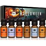Halloween Set of 6 Premium Grade Fragrance Oils - Autumn Wreath, Pumpkin Pie, Candy Corn, Marshmallow, Night Air, Caramel Cor