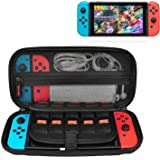 Nintendo Switch Case, CACACOL Hard Shell Game Traveler Travel Carrying Box Case for Nintendo Switch with 20 Game Cards Holder