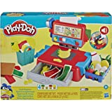 Play-Doh - Cash Register Toy - with Fun Sounds, Play Food Accessories & 4 Non Toxic Dough Colours - Kids & Toddler Craft Toys