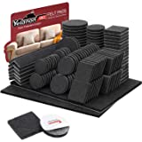 "Yelanon Non Slip Felt Furniture Pads Great Pack (36)+8pcs 4""+12pcs 3""+16pcs 2"" Furniture Pads ! Best Furniture Grippers - Rub"