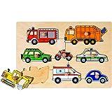 goki 木製 知育玩具 木製パズル ピックアップパズル 車