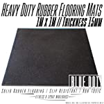 Heavy Duty Rubber Flooring Exercise Mats 1M x 1M Blue Dot Fitness Gym Gear