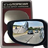 Utopicar Blind Spot Mirrors, Blind Side Car Mirror/Door Mirrors for Traffic Safety with Lip Awning to Keep It From Rain, Pack