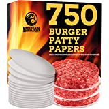 Mountain Grillers Hamburger Patty Paper - Wax Papers to Separate Frozen Pressed Patties - 750 Burger Sheets for Easy Release