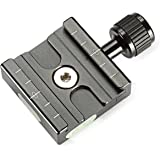 Neewer Aluminium 50mm Quick Shoe Clamp 3/8-inch with 1/4-inch Adapter and Other Arca-Style Quick Shoe Plate