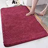 Bath Rug COSY HOMEER 32x20 Inch,Non-Slip Soft Thickness Shaggy Water Absorbent Bathroom Carpet,100% Mirco Polyester,Machine W