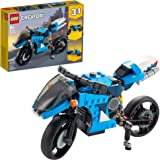 LEGO Creator 3in1 Superbike 31114 Toy Motorcycle Building Kit; Makes a Great Gift for Kids Who Love Motorbikes and Creative B