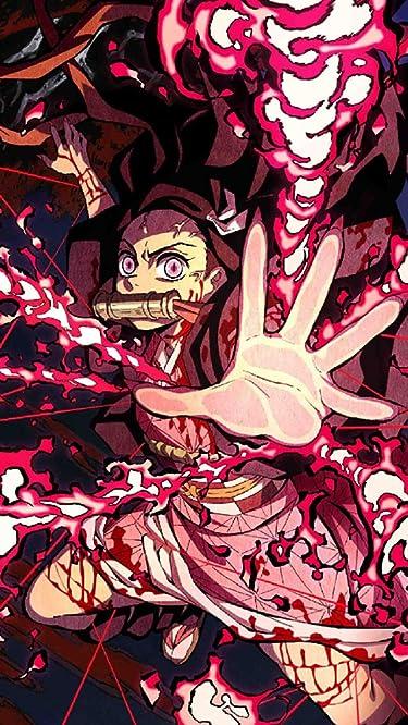 鬼滅の刃  iPhone/Androidスマホ壁紙(640×1136)-1 - 竈門禰豆子 (かまどねずこ) 血鬼術 爆血
