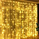 Greenke Curtain String Lights 300 LED Waterproof Twinkle Lights 8 Modes USB Remote Timer Fairy String Lights for Christmas,Pa