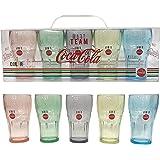 コカ・コーラ COCA-COLA 5カラータンブラー お洒落なカップ パーティ ギフト 80度以下の食洗器可 ペニージャパン(PENNY JAPAN) PJ-OL01 赤、青、黄、緑、黒