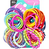 Goody Girls Ouchless Elastic Hair Ties, No-metal, 60 Count