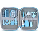 Baby Grooming Kit, 11 in 1 Baby Healthcare Kit Safety Health Care Set with Hair Brush Comb Nail Clipper Nasal Aspirator Baby