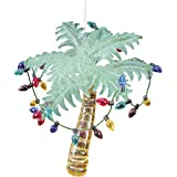 Glass Tropical Palm Tree Christmas Ornament by Gallery II
