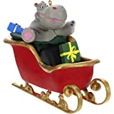 Hallmark Keepsake Ornament 2019 Year Dated Hippo in Sleigh Musical (Plays I Want a Hippopotamus for Christmas Song),