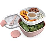 Bentgo Salad BPA-Free Lunch Container with Large 54-oz Bowl, 4-Compartment Bento-Style Tray for Salad Toppings and Snacks, 3-