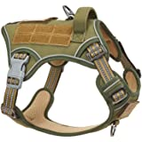 BUMBIN Tactical Dog Harness for Large Medium Small Dogs, Famous TIK Tok Dog Harness, Fit Smart Reflective Pet Walking Harness