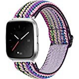 MEFEO Elastic Bands Compatible with Fitbit Versa 2/ Fitbit Versa/Versa Lite, for Women Girls Soft Stretch Strap Wristband Bra