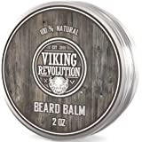 Viking Revolution Beard Balm - All Natural Grooming Treatment with Argan Oil & Mango.