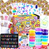 HSFTILV DIY Slime kit Supplies-2 Cloud Slime 8 Clear Slime 8 Butter Slime 2 Jelly Cube 48Glitter 4 Magic Clay with DIY Slime