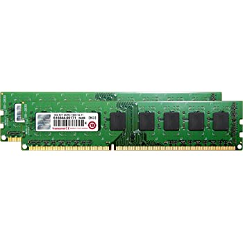 Transcend デスクトップPC用メモリ PC3-12800 DDR3 1600 16GB 1.5V 240pin DIMM Kit (8GB×2pcs) JM1600KLH-16GK