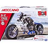 Erector by Meccano, 5 in 1 Model Building Set - Motorcycles, 174 Pieces, for Ages 8 and up, STEM Construction Education Toy