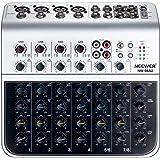 Neewer ステレオミキサー コンパクト ミニ ミキシングコンソール 4チャンネル 2ウェイステレオライン入力 RCA入力/出力 4バンドLEDレベルインジケーター コンピュータマイク、その他の楽器に対応(NW-04AU)