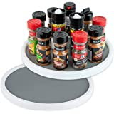 Homeries Lazy Susan Turntable (12 Inches) - Single Round Rotating Kitchen Spice Organizer for Cabinets, Pantry, Bathroom, Ref